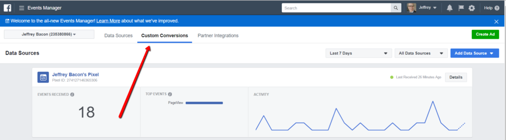How To Monitor Facebook Pixel Events - Custom Conversions